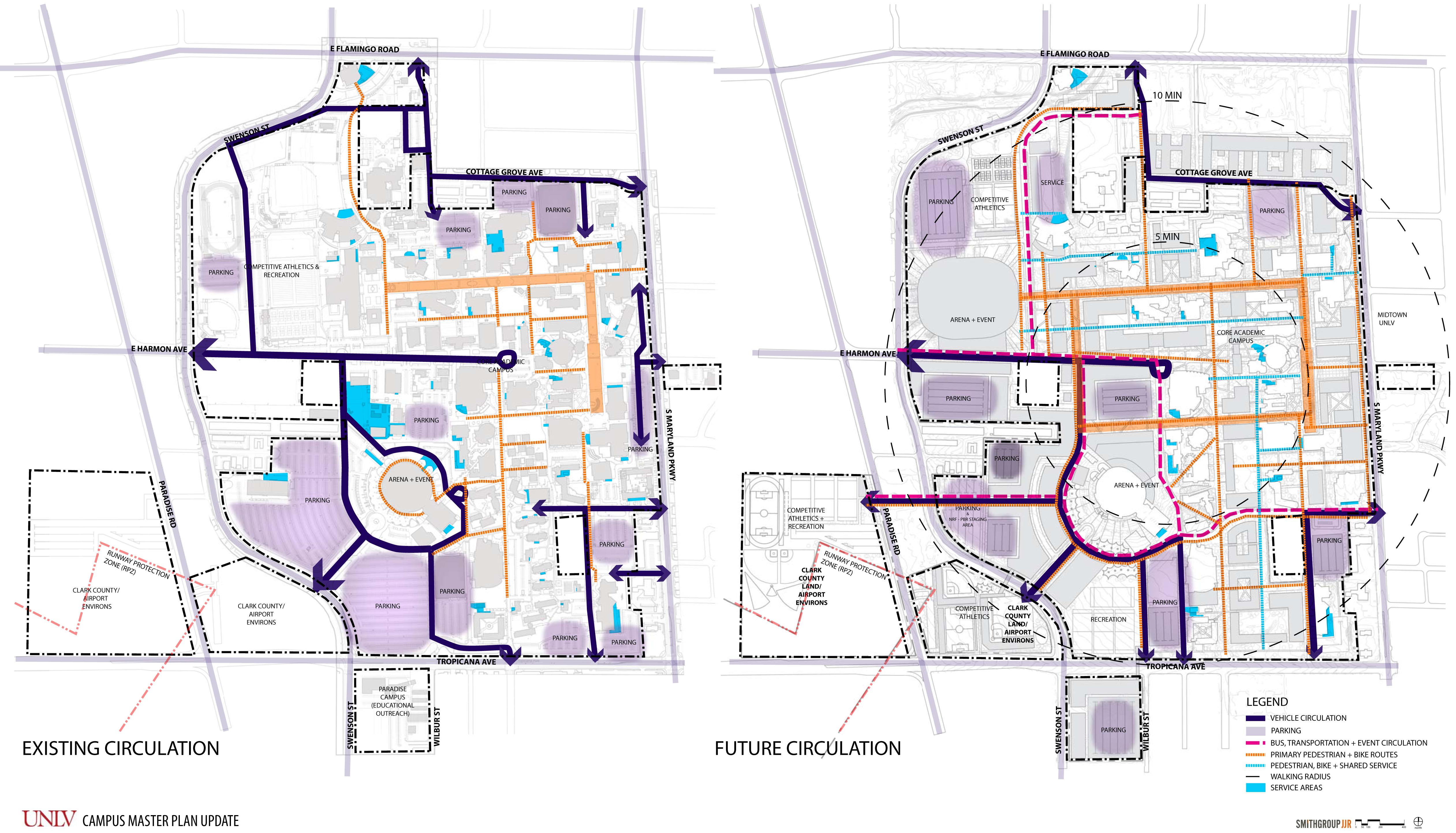 Maps Drawings Unlv Campus Master Plan University Of