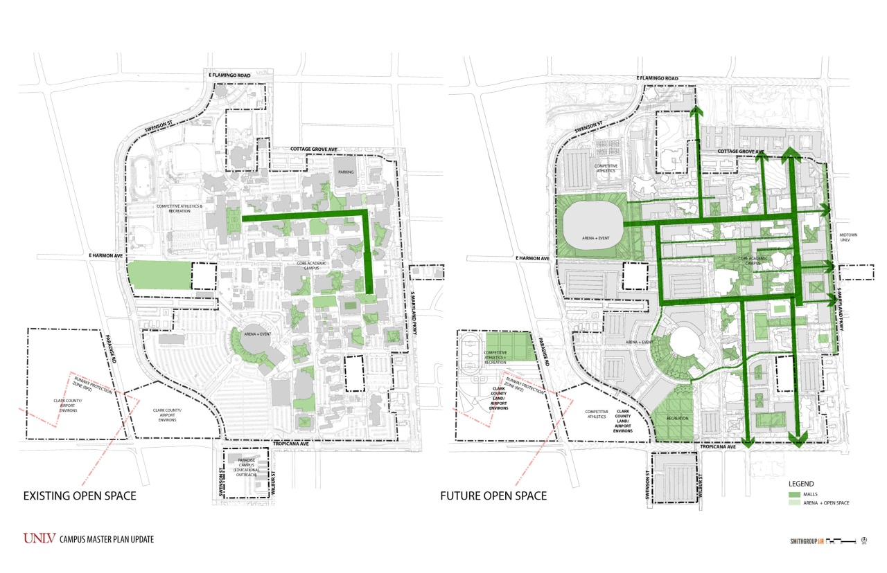 Unlv Campus Map Maps/Drawings | UNLV Campus Master Plan | University of Nevada  Unlv Campus Map