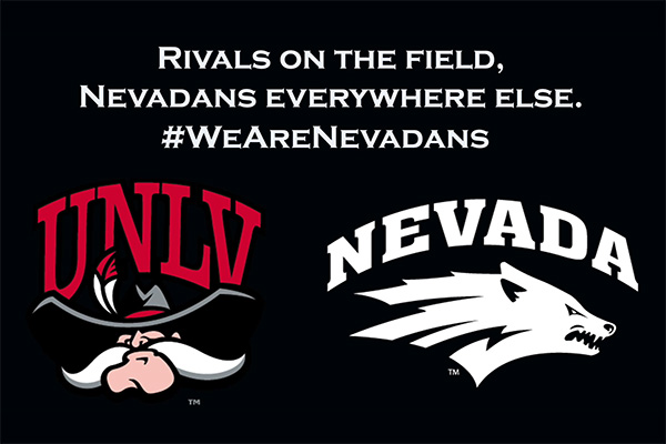 Rivals on the field. Nevadans everywhere else. #WeAreNevadans
