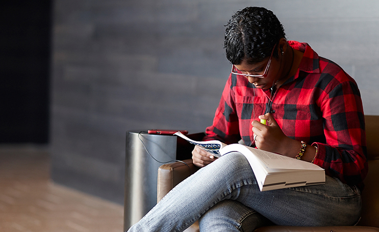 Image of student studying