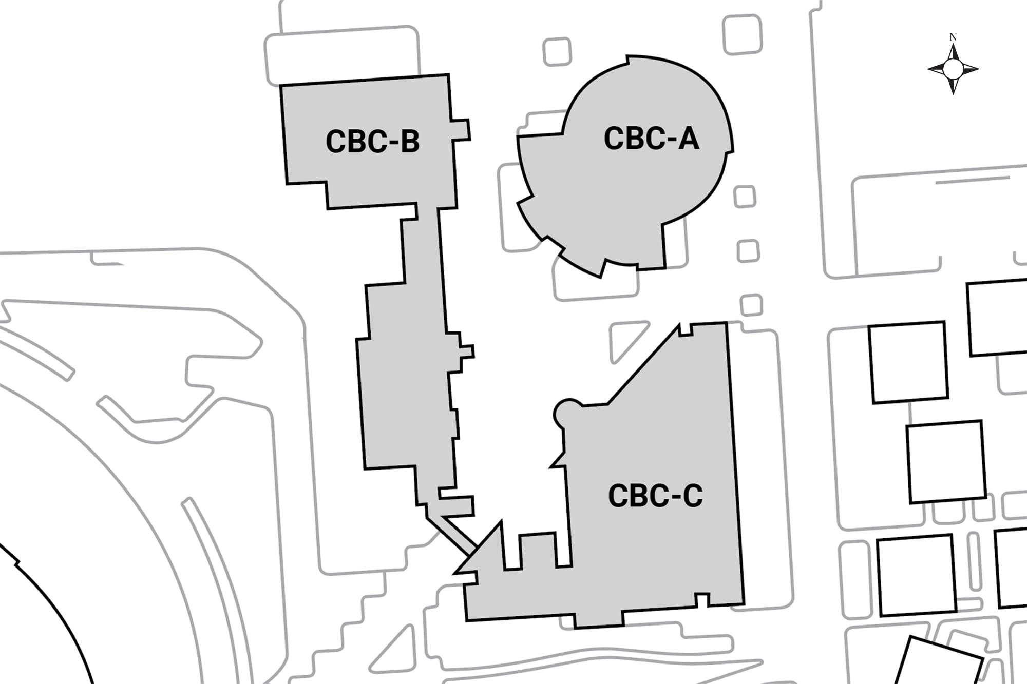 Aerial map buildings located in this complex.