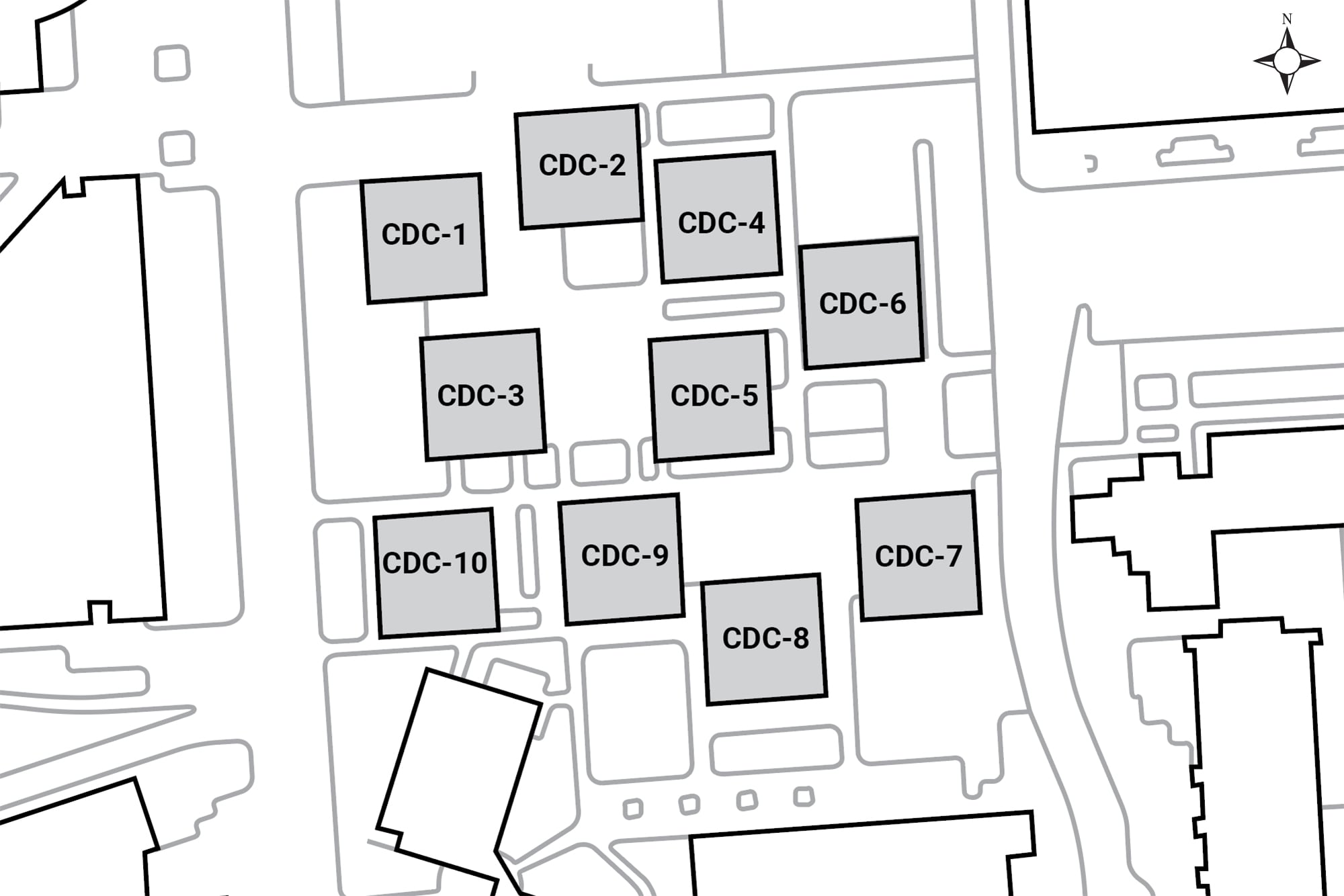 Aerial map buildings located in this complex