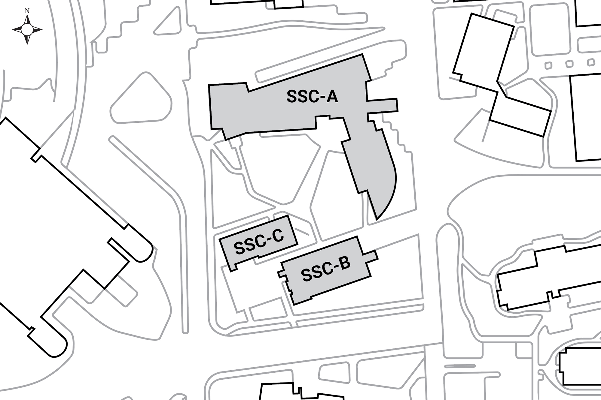Aerial map of buildings located in this complex