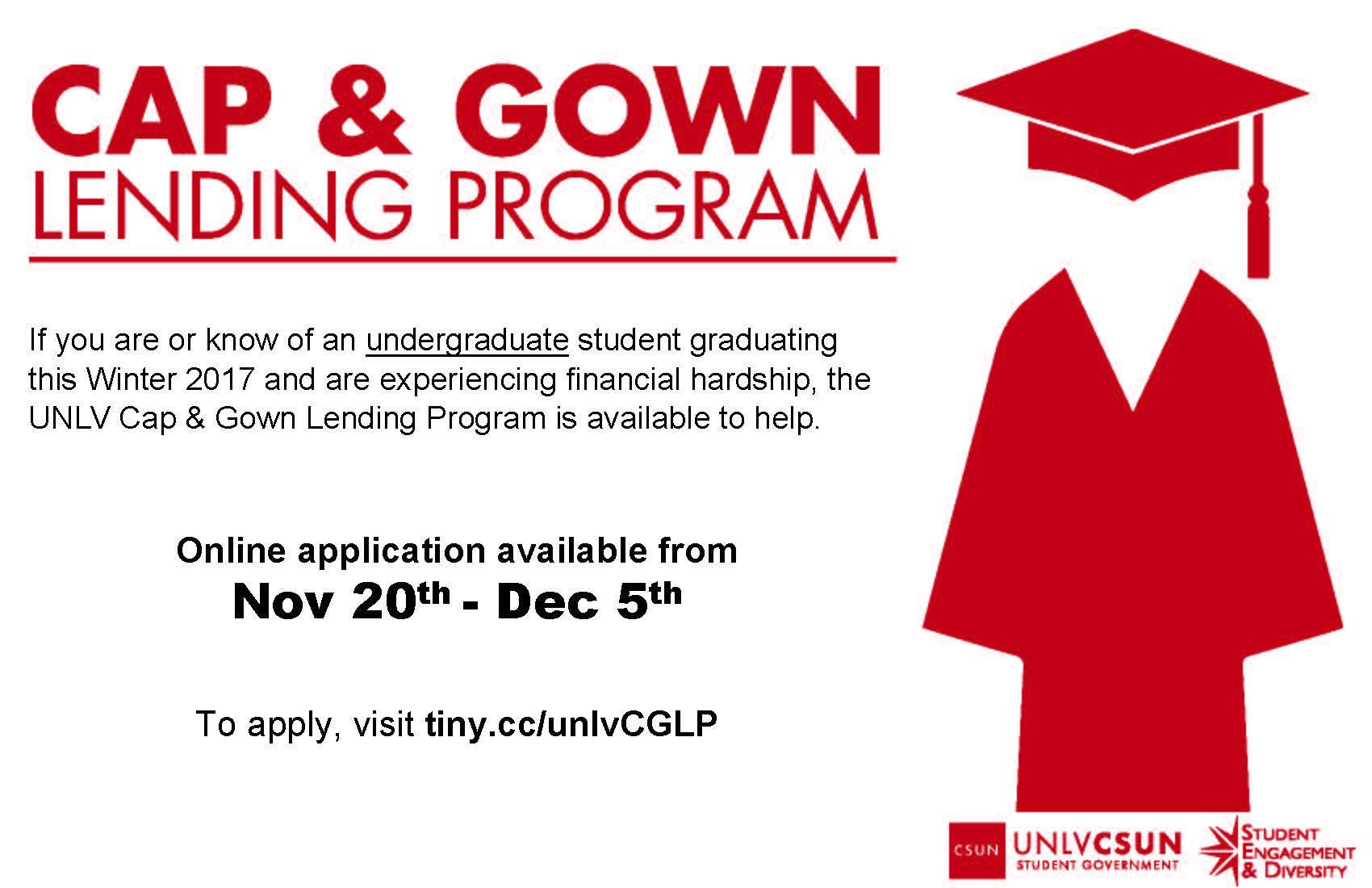 Cap and Gown Lending Program | Calendar | University of Nevada, Las ...