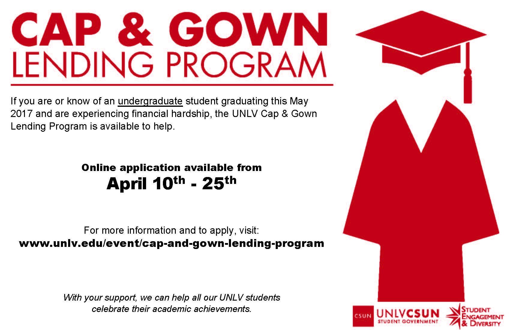 Cap and Gown Lending Program   Calendar   University of Nevada, Las ...