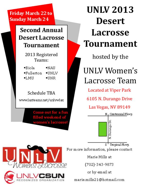 UNLV Women's Lacrosse - Desert Lacrosse Tournament