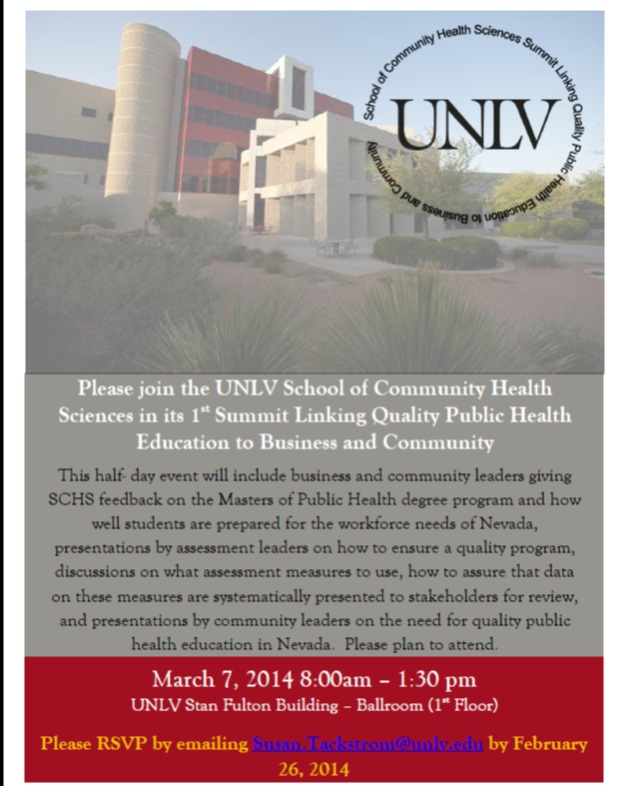 School of Community Health Sciences Summit