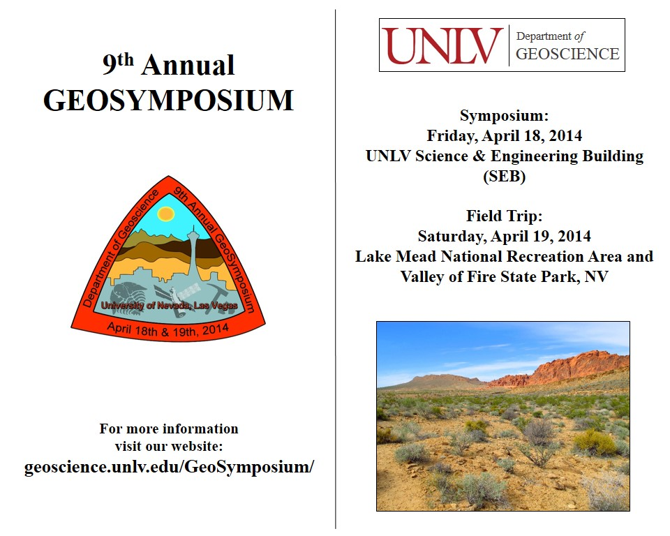 Department of Geoscience 9th Annual GeoSymposium