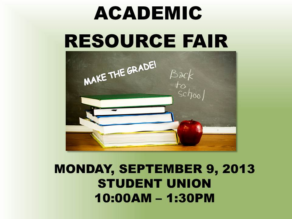 Making The Grade: Academic Resource Fair