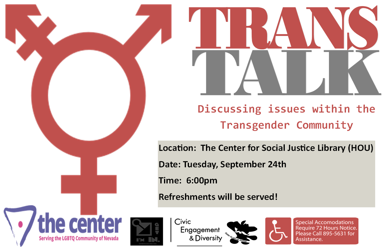 Trans Talk- Discussing Isses within the Transgender Com