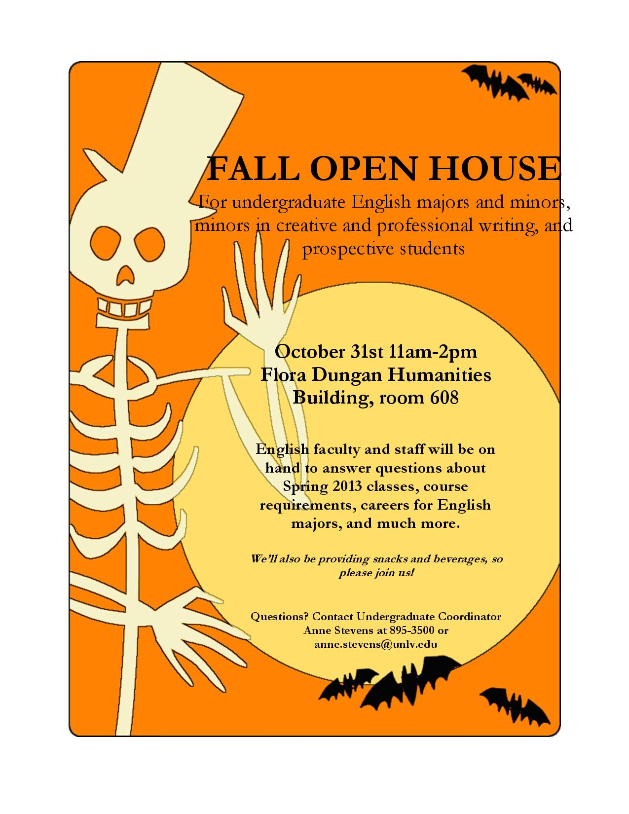 English Department open house