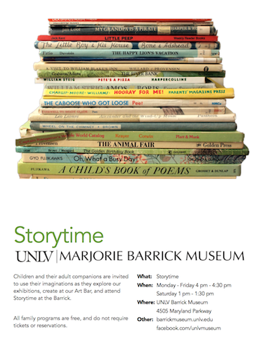 Storytime at the Barrick Museum