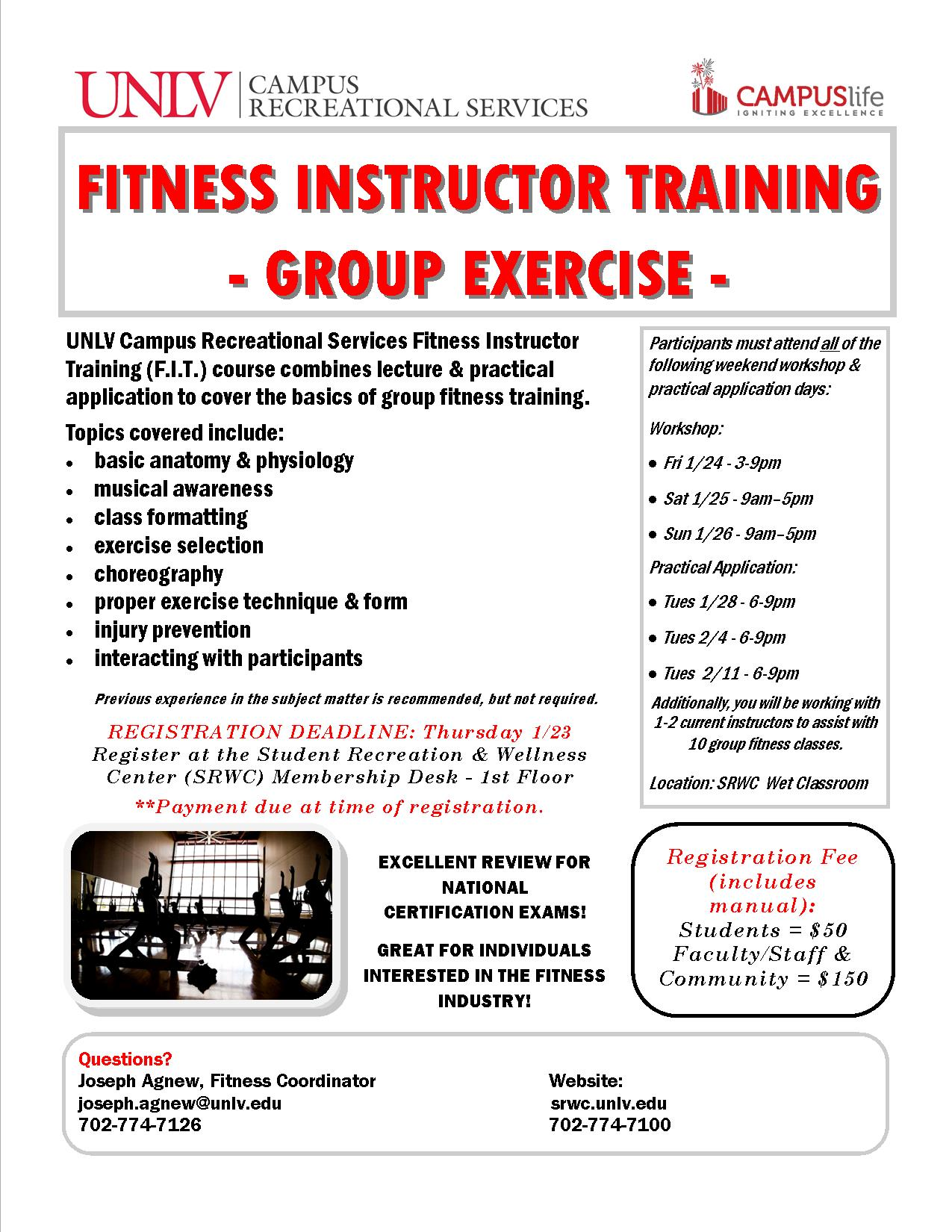 Fitness Instructor Training - Group Exercise