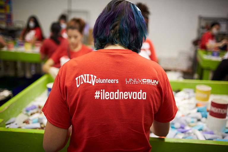 UNLVolunteers t-shirt back