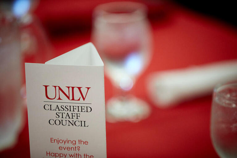 Classified Staff Council event brochure