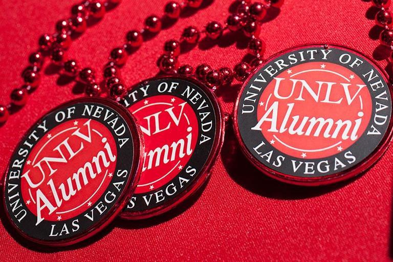 UNLV Alumni medals.