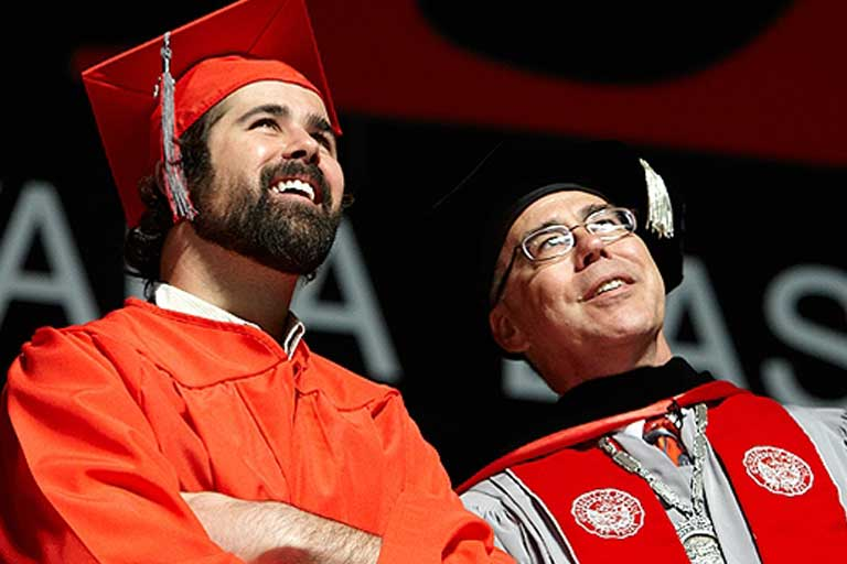 Ronnie Vannucci at Graduation