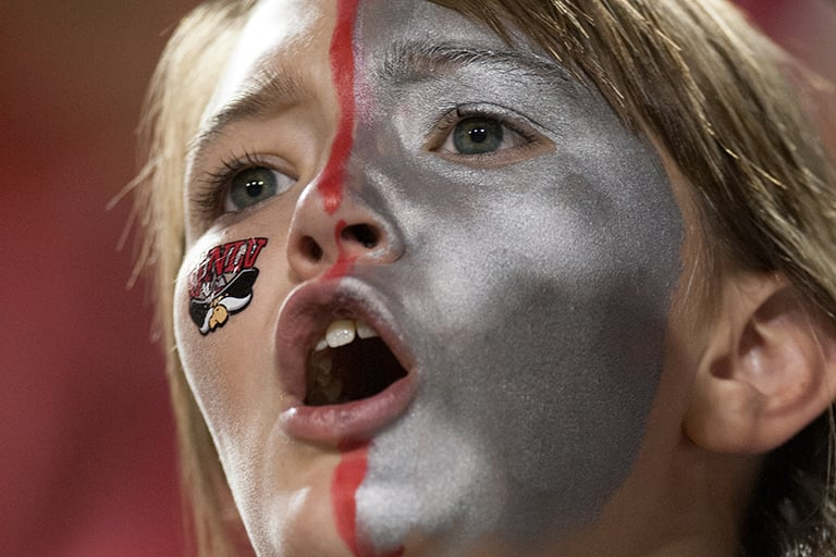 Girl with makeup on