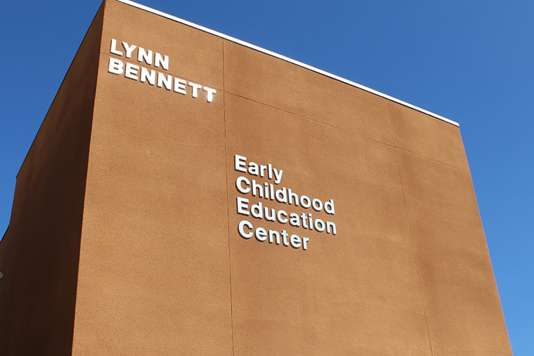 View of the Lynn Bennett Early Childhood Education Center.