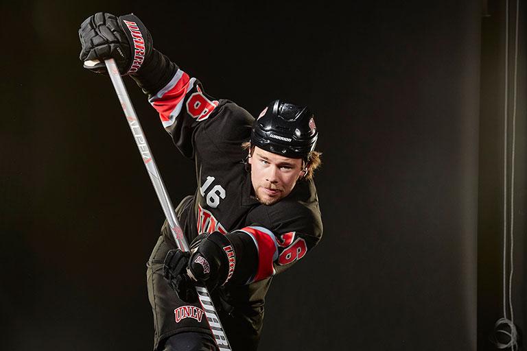 A hockey player
