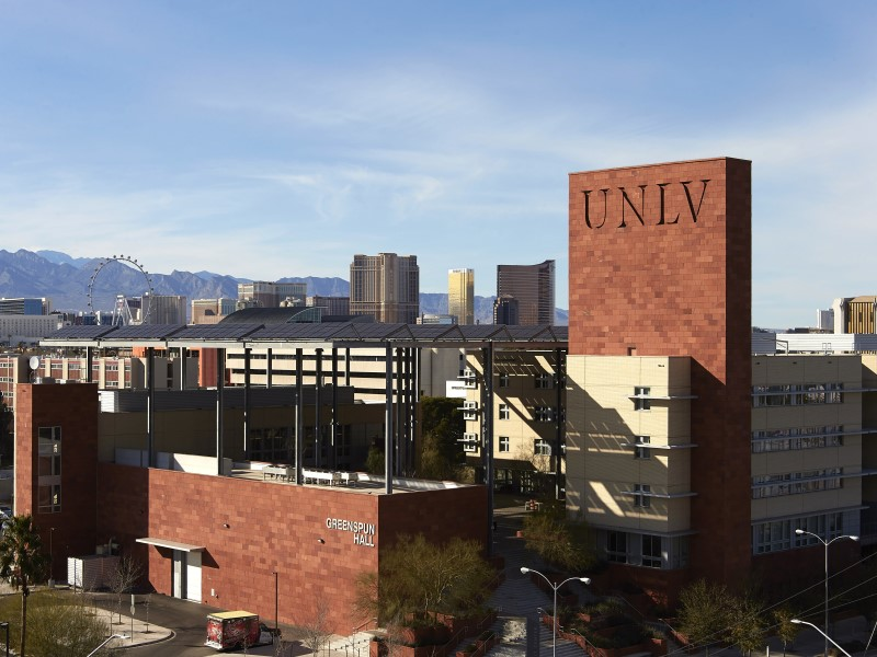 Image of building that says UNLV