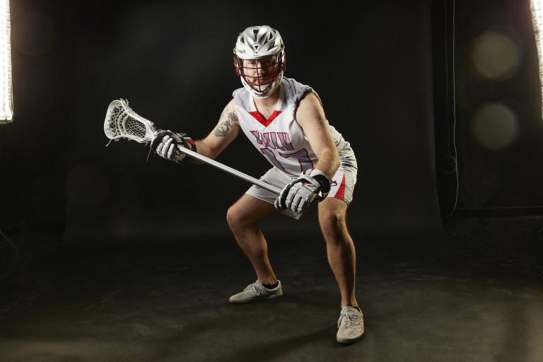 UNLV Lacrosse player posing