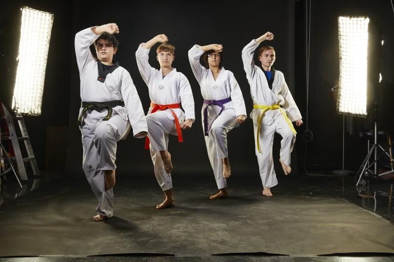 UNLV Taekwondo Team posing