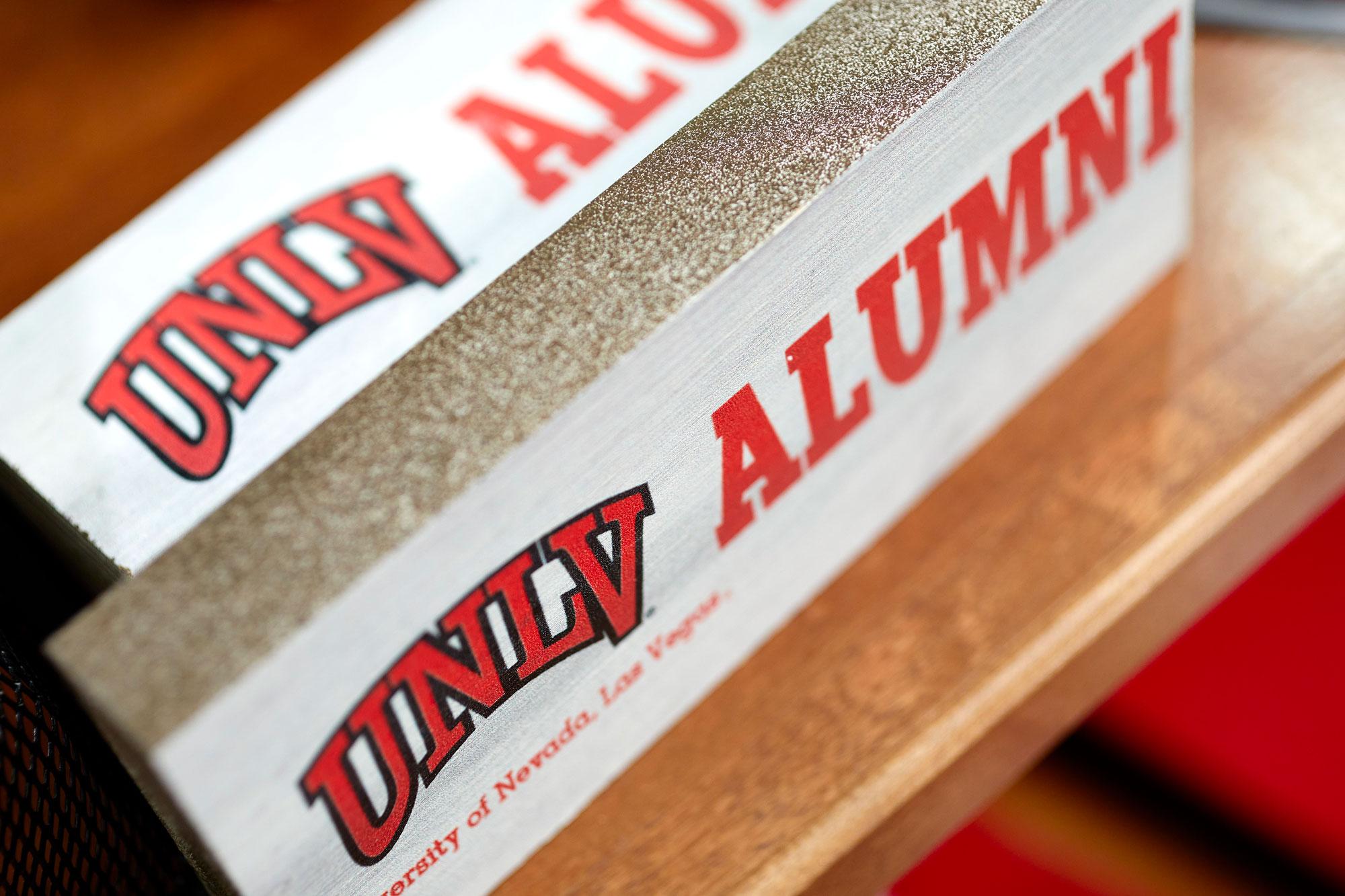 U-N-L-V Alumni Sign