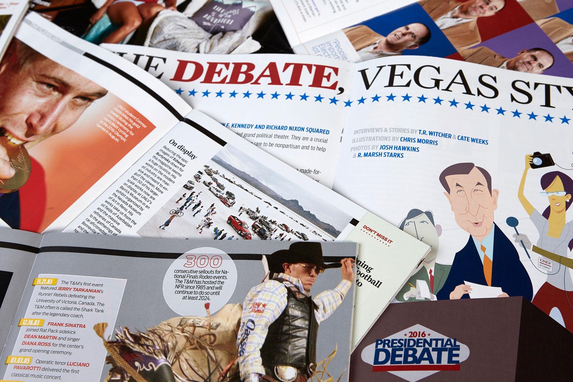 U-N-L-V Magazine pages