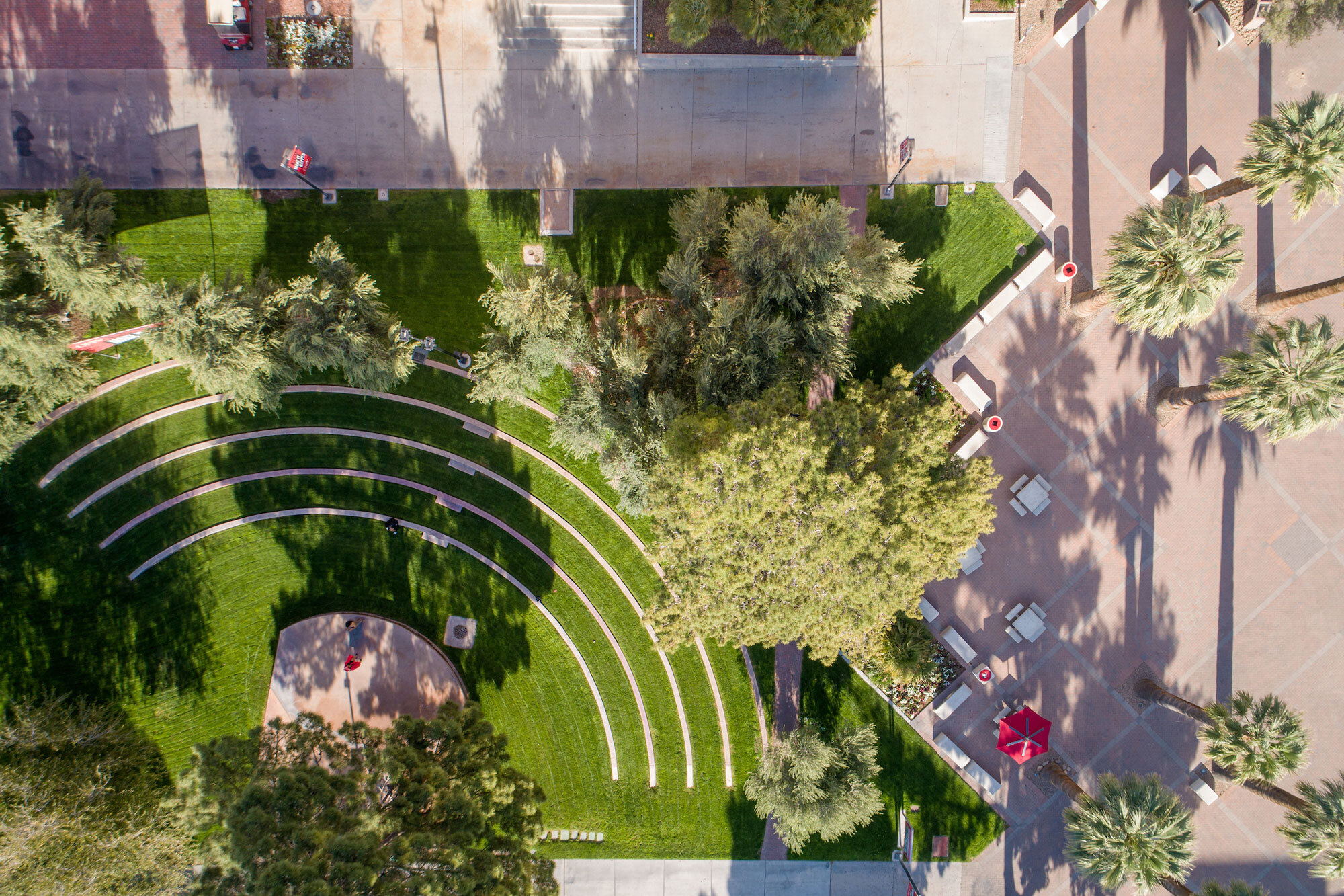 Aerial view of The Alumni Amphitheatre