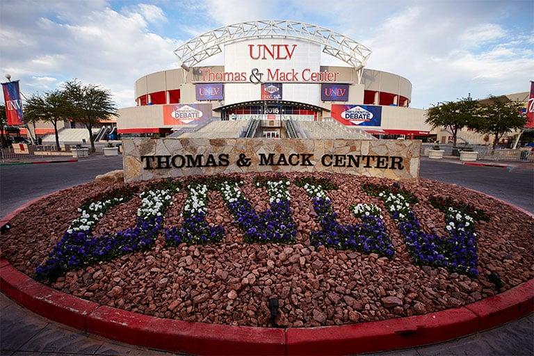 Entrance to the Thomas & Mack Center