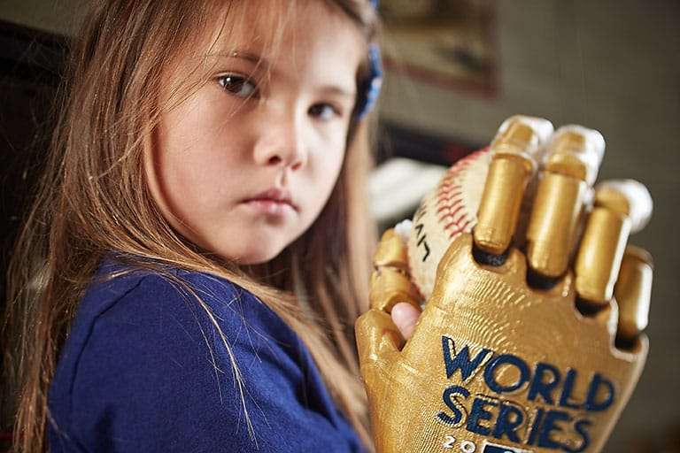 Hailey shows her World Series hand.