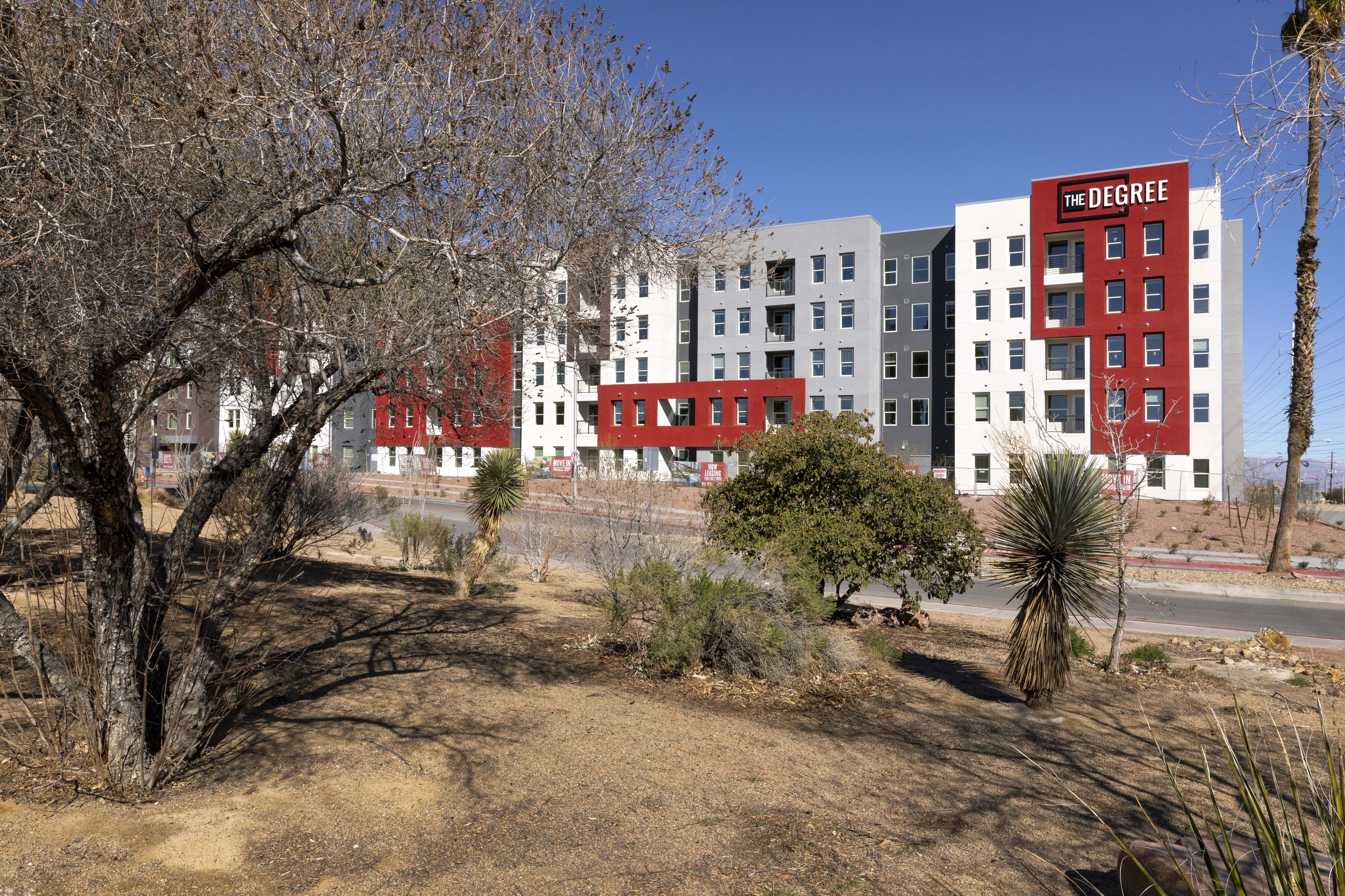 the degree dormitory building.