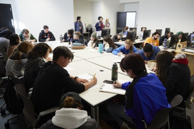 People sitting around large table
