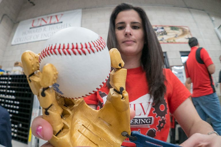 Maria Gerardi, the UNLV engineering graduate student behind 7-year-old Hailey Dawson's World Series pitch using a 3D-printed prosthetic hand.