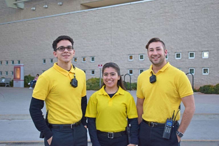 Three unlv student cadets smiling