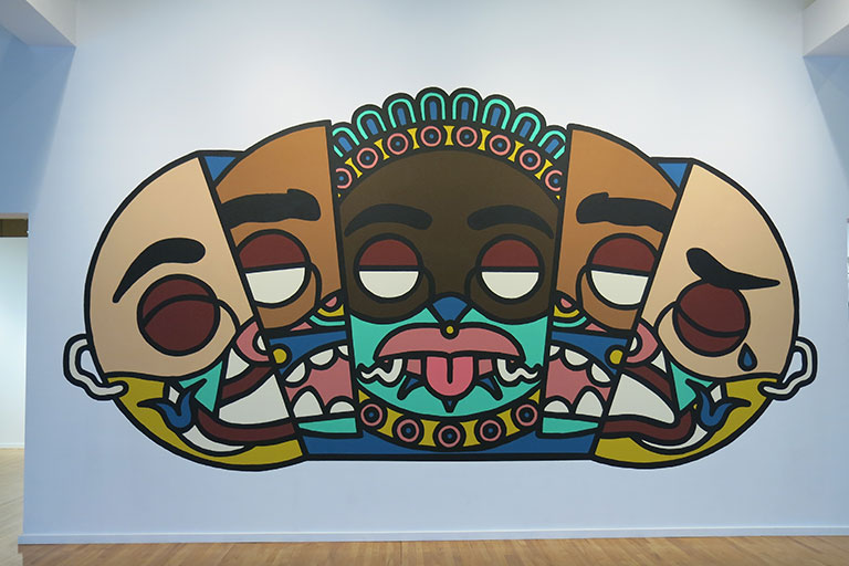 Artpiece with heads