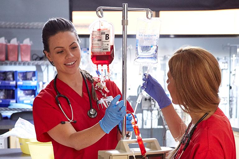 Two nursing students