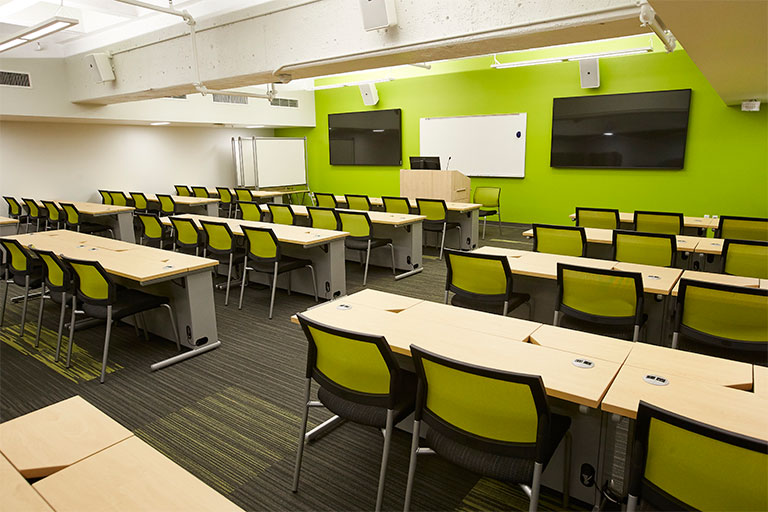 Classroom located at the Shadow Lane Campus
