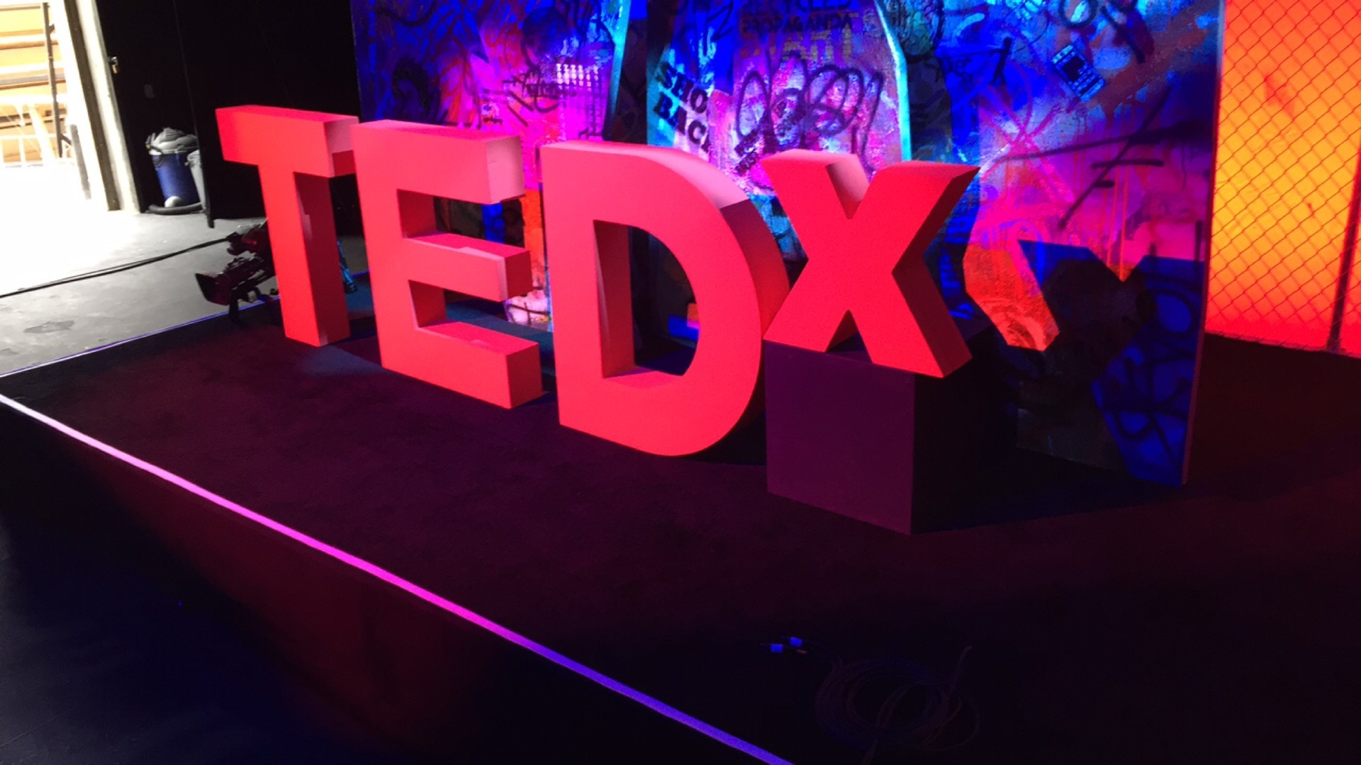 "Letters that spell ""TEDx"""