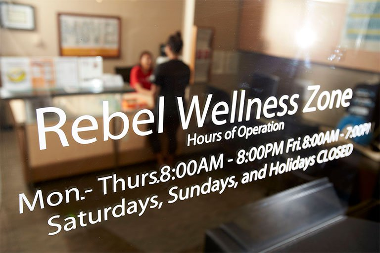 Entrance to the Rebel Wellness Zone