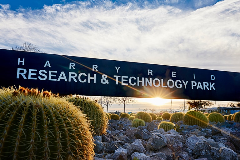 Signage for Harry Reid Research and Technology Park