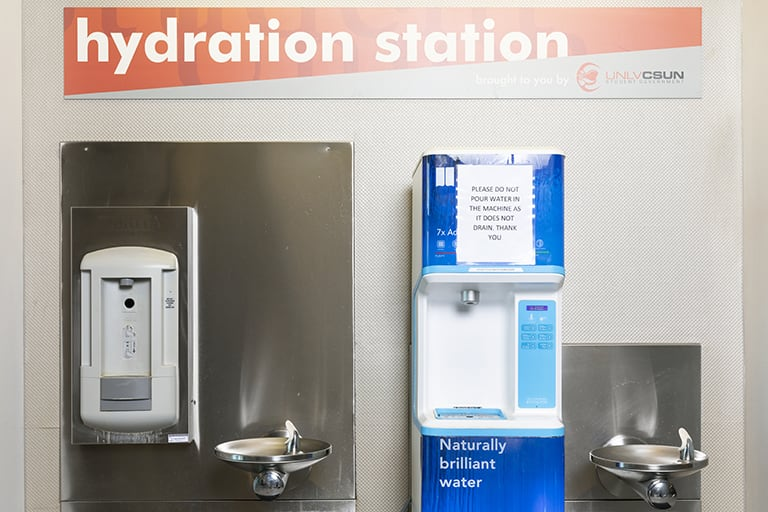 Water station and signage