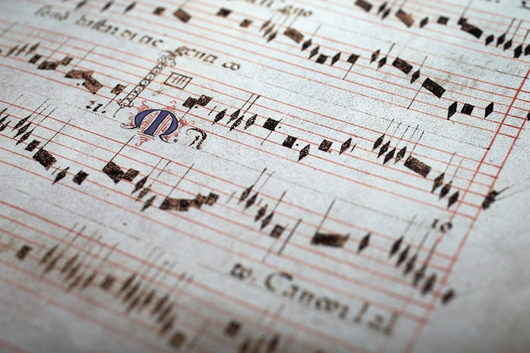 Handwritten sheet music