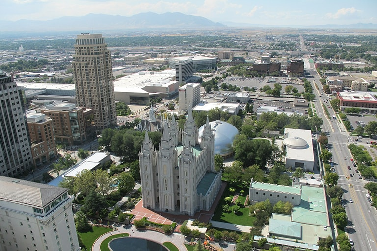 View of Temple Square in Salt Lake City