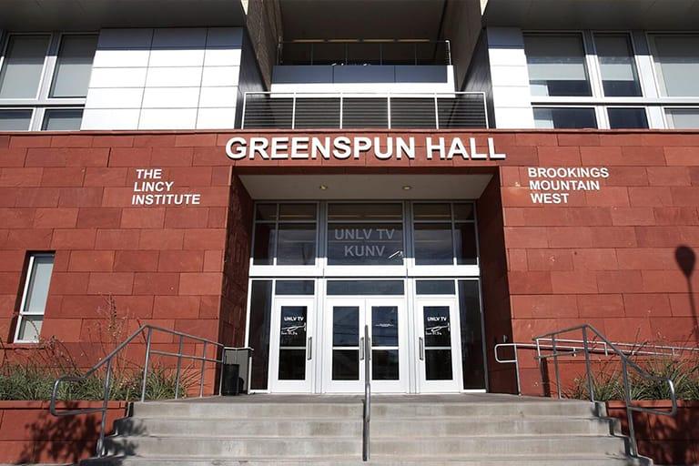 Exterior of Greenspun Hall