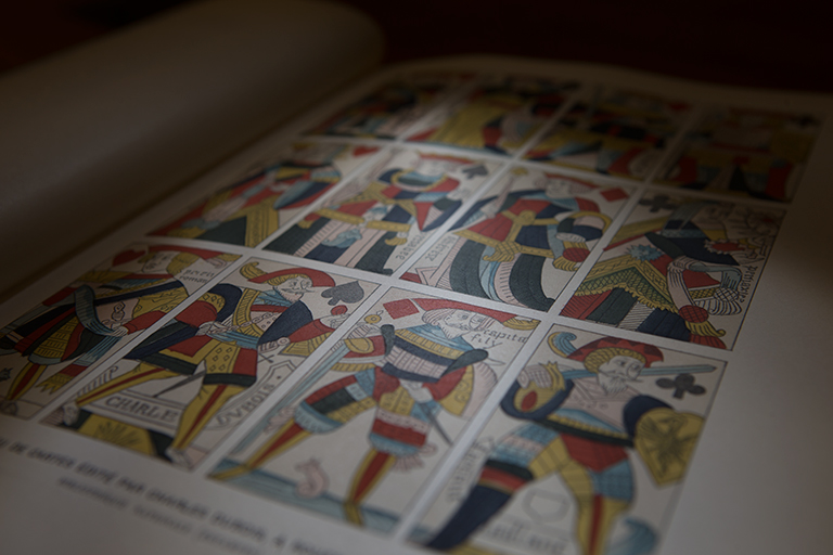A closeup of a page from Special Collections.