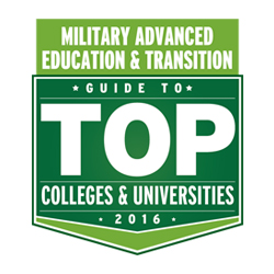 Military Advanced Education & Transition Guide to Top Colleges & Universities 2016 Award