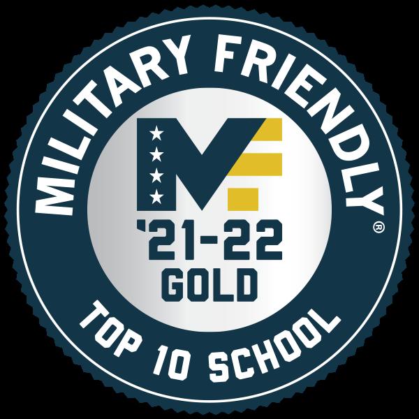Military Friendly Top 10 School 2021-2022
