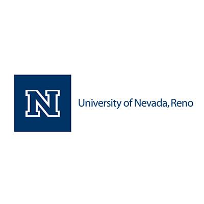 A blue U.N.R. logo with the letter N in a blue box followed by University of Nevada, Reno